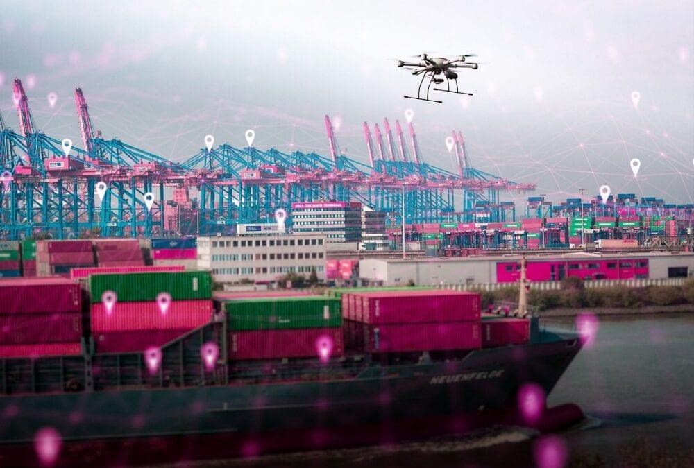 ΛΙΜΑΝΙ ΤΟΥ ΑΜΒΟΥΡΓΟΥ: ΕΠΟΠΤΕΙΑ ΑΠΟ ΣΜΗΝΟΣ ΒΙΟΜΗΧΑΝΙΚΩΝ DRONES