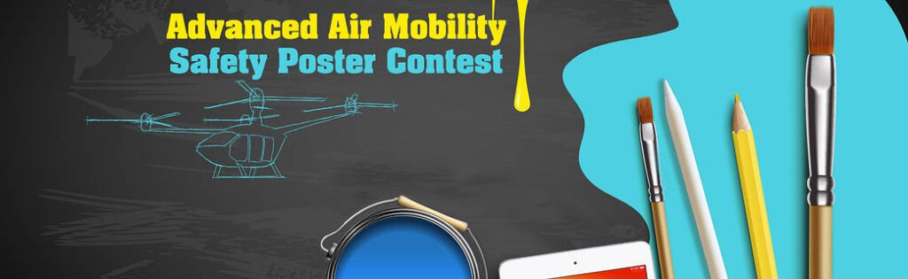 #NASA #UAM #AAM advanced-air-mobility-poster-contest-banner