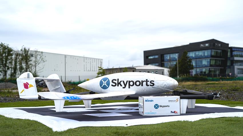 IΡΛΑΝΔΙΑ-FMCI Air consortium: ΣΥΝΕΡΓΑΣΙΑ ΤΗΣ FedEx Express ΚΑΙ ΤΗΣ Skyports ΣΤΗΝ ΠΙΛΟΤΙΚΗ ΔΙΑΝΟΜΗ ΠΑΚΕΤΩΝ ΜΕ drones (last-mile service)